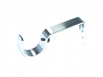 35mm Polished Chrome Curtain Pole Bracket 1 2 3